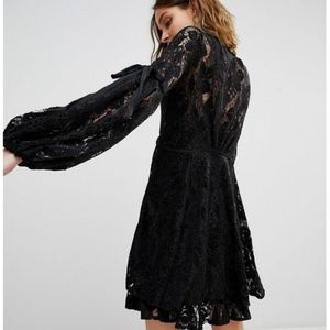 Free People ruby lace dress black sz S